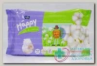 Салфетки влажные Хэппи silk и cotton N 64