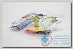 Будь здоров соска-пустышка традиционная латексная с кольцом в инд уп /1411/ N 1