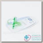 Chicco пустышка Physio Soft силикон зеленая 6-12мес 310410144 N 1