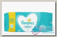 Салфетки влажные Памперс детские sensitive fragrance-free N 80