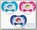 Canpol babies соска-пустышка силикон симметричная Owls 6-18мес N 1