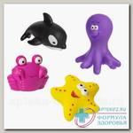 Курносики набор игрушек д/ванны морские животные /25032/ 6+мес N 4