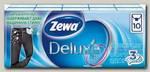 Zewa Deluxe платки носовые бумажн 3х слойн неароматиз 10шт N 24