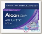 Alcon Air Optix Aqua Multifocal 30тидневные контактные линзы D 14.2/R 8.6/ +4.50 low N 3