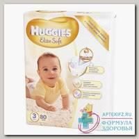 Подгузники Huggies elite soft (р-р 3) 5-9 кг N 80