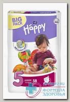 Подгузники Bella baby Happy юниор р.5 (12-25кг) N 58