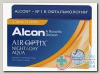 Alcon Air Optix plus Night&Day Aqua 30тидневные контактные линзы D 13.8/R 8.6/ +6.00 N 3