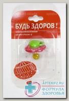 Будь здоров соска-пустышка латексная карамелька /11411/ N 1