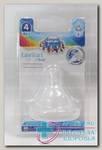 Canpol babies соска молочная силикон д/бутылочек с широким горлом для каши +6мес N 1