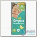 Памперсы Актив Baby dry р-р 6 13-18кг N 56