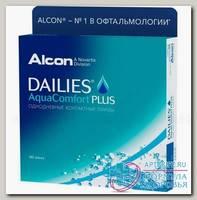 Alcon Dailies AquaComfort Plus однодневные контактные линзы D 14.0/R 8.7/ +0.75 N 90