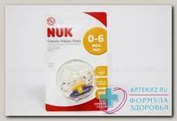 Nuk Соска-пустышка классик Heppy days ортод силикон 0-6 мес р. 1 N 1