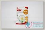 Nuk Night и Day соска-пустышка ортод силикон 0-6мес светится в темноте /10730210/ N 1