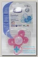 Chicco соска-пустышка Physio Comfort силикон розовая Котики 6-12мес N 1