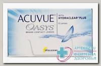 Линзы контактные Acuvue Oasys with Hydraclear plus 8.8/-2.25 N 6