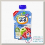 ФрутоНяня пюре яблоко малина творог мягк упак 90г без сахара 6+мес N 1