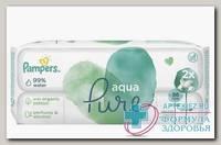 Салфетки влажные Памперс детские Aqua Pure N 96