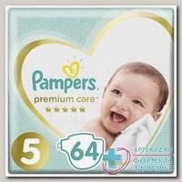 Памперс Премиум каре подгузники (р-р 5) 11+кг N 64