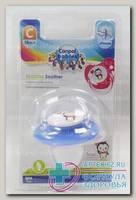 Canpol babies соска-пустышка силикон анатомич ортодонтическая Pinguin +18мес N 1