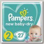 Памперс new baby-dry (р-р 2) 4-8кг N 27