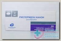 Рисперидон Канон тб п/о 2 мг N 20