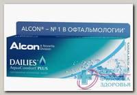Alcon Dailies AquaComfort Plus однодневные контактные линзы D 14.0/R 8.7/ +1.00 N 30