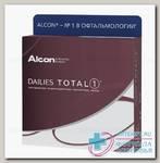 Alcon Dailies Total 1 однодневные контактные линзы D 14.1/R 8.5/ +1.00 N 90