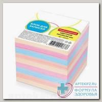 Блок бумажный 9x9x9 цветной неклеенный
