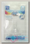 Canpol babies соска молочная силикон д/бутылочек с широким горлом медлен поток +3мес N 1