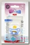 Nuk Baby blue соска-пустышка ортодонтическая латексная 0- 6 мес р 1 N 1