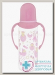 Lubby бутылочка д/кормлен с силикон соской медлен поток с ручками 250мл 0+мес /12018/ N 1