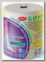 Бинт эластичный Интекс 8 смХ3 м низкой растяжимости с застежкой N 1