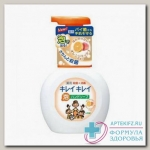 LION Kirei Kirei Пенное мыло для рук с ароматом апельсина, флакон-дозатор, 250 мл N 1
