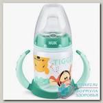 Nuk First Choice обучающая бутылочка с насадкой д/питья и ручками Винни Тигр 6-18 мес 150 мл N 1