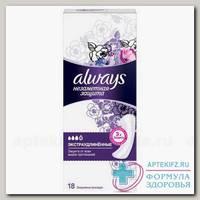 Always Прокладки незаметная защита экстра длин ежедн ароматизир N 18