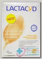 Лактацид салфетки д/интим гигиены N 10