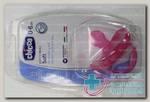 Chicco пустышка Physio Soft силикон розовая 0-6мес N 1