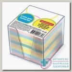 Блок для записей в подставке прозр 9x9x9 цветной