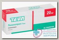 Лизиноприл - Тева тб 20 мг N30