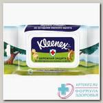 Kleenex салфетки влажные а/бактер бережная защита с пласт крышкой N 40