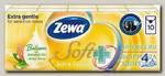 Zewa Soft Sensitive платки носовые бумажн 4х слойн миндальн масо и алоэ вера 9шт N 10