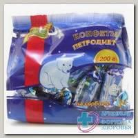 Конфеты Петродиет шоколадная глазурь на фруктозе желейные 200г N 1
