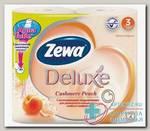 Бумага туалетная Zewa Delux Cashemere Peach 3-х слойная N 4
