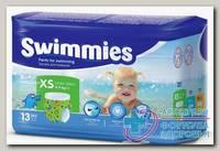 Подгузники-трусики д/плавания Swimmies xs 4-9кг N 13