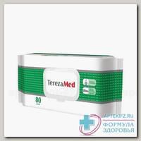 TerezaMed влажные очищающие салфетки с алоэ N 80