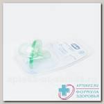 Chicco пустышка Physio Soft силикон зеленая +0мес 310410103 N 1