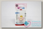 Nuk Baby Rose Соска-пустышка ортод латекс 6-18 мес р. 2 N 1