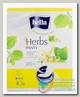 Прокладки Белла панти софт лекарственные травы с экстр липового цвета N 40