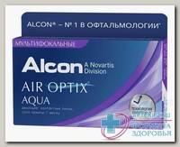 Alcon Air Optix Aqua Multifocal 30тидневные контактные линзы D 14.2/R 8.6/ -4.25 low N 3